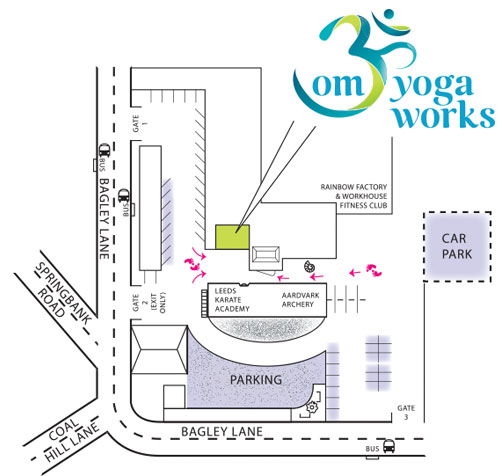 How to find us - Om Yoga Works Farsley
