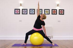 Om the Ball yoga class